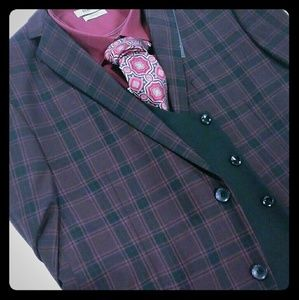 Other - Brand new black and burgundy three-piece suit